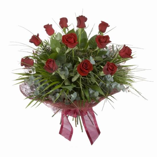 Etkileyici buket 11 adet kirmizi gül buketi  Aydın internetten çiçek satışı