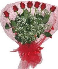 7 adet kipkirmizi gülden görsel buket  Aydın çiçek mağazası , çiçekçi adresleri