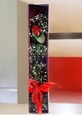 kutu içinde tek kirmizi gül  Aydın çiçek online çiçek siparişi