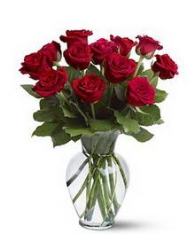 Aydın çiçek gönderme sitemiz güvenlidir  cam yada mika vazoda 10 kirmizi gül