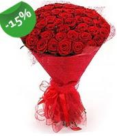 51 adet kırmızı gül buketi özel hissedenlere  Aydın çiçek siparişi sitesi