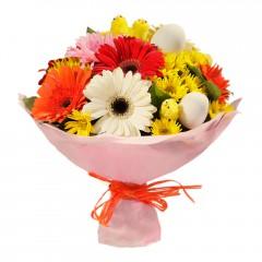 Karışık mevsim buketi Mevsimsel çiçek  Aydın internetten çiçek siparişi