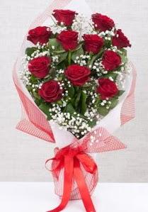 11 kırmızı gülden buket çiçeği  Aydın 14 şubat sevgililer günü çiçek