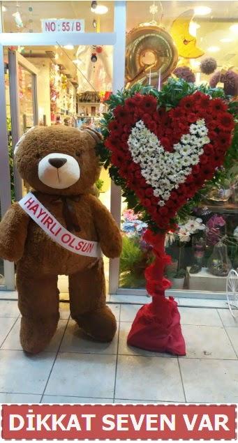 1.5 Metre peluş ayı ve Kalp  Aydın çiçek gönderme sitemiz güvenlidir