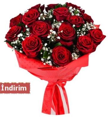 12 Adet kırmızı aşk gülleri  Aydın çiçek satışı