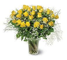 Aydın çiçek siparişi sitesi  15 adet sarigül mika yada cam vazoda