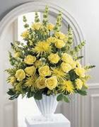 Aydın çiçek siparişi sitesi  sari güllerden sebboy tanzim çiçek siparisi