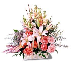 Aydın çiçek siparişi sitesi  mevsim çiçekleri sepeti özel tanzim