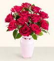 Aydın hediye çiçek yolla  10 kirmizi gül cam yada mika vazo tanzim