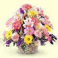 Aydın uluslararası çiçek gönderme  sepet içerisinde gül ve mevsim