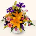 Aydın 14 şubat sevgililer günü çiçek  sepet içinde karisik çiçekler