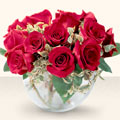 Aydın çiçek online çiçek siparişi  mika yada cam içerisinde 10 gül - sevenler için ideal seçim -