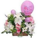 balon ve çiçeklerle tanzim  Aydın internetten çiçek satışı