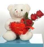 3 adetgül ve oyuncak   Aydın online çiçekçi , çiçek siparişi