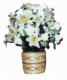 yapay karisik çiçek sepeti   Aydın çiçek mağazası , çiçekçi adresleri