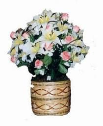 yapay karisik çiçek sepeti   Aydın çiçek servisi , çiçekçi adresleri
