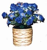 yapay mavi çiçek sepeti  Aydın cicekciler , cicek siparisi