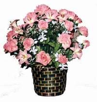 yapay karisik çiçek sepeti  Aydın çiçek online çiçek siparişi