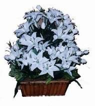 yapay karisik çiçek sepeti   Aydın online çiçek gönderme sipariş