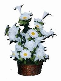 yapay karisik çiçek sepeti  Aydın çiçek siparişi vermek