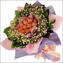 11  adet  gül ve   elyaflar   Aydın çiçekçi mağazası