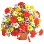 karisik renkli çiçek sepet   Aydın çiçek gönderme sitemiz güvenlidir