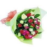 12 adet renkli gül buketi   Aydın çiçek gönderme sitemiz güvenlidir