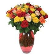 51 adet gül ve kaliteli vazo   Aydın çiçek gönderme sitemiz güvenlidir