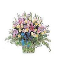 sepette kazablanka ve güller   Aydın çiçek gönderme