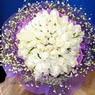 71 adet beyaz gül buketi   Aydın çiçek , çiçekçi , çiçekçilik