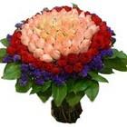 71 adet renkli gül buketi   Aydın ucuz çiçek gönder