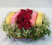 15 adet reprenkli gül sepeti   Aydın çiçek yolla