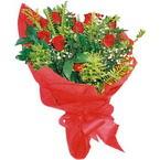 10 adet kirmizi gül buketi  Aydın çiçek yolla