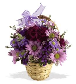 Aydın uluslararası çiçek gönderme  sepet içerisinde krizantem çiçekleri