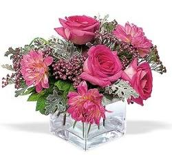 Aydın cicekciler , cicek siparisi  cam içerisinde 5 gül 7 gerbera çiçegi