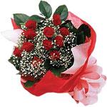 Aydın internetten çiçek satışı  KIRMIZI AMBALAJ BUKETINDE 12 ADET GÜL