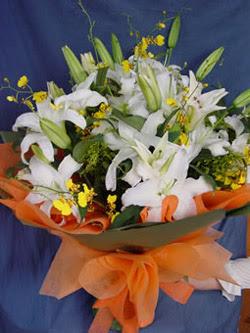 Aydın internetten çiçek satışı  5 ADET KAZABLANKA BUKETI KALITEDEN SASMAYANLARA