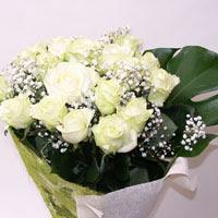 Aydın hediye çiçek yolla  11 adet sade beyaz gül buketi
