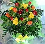 13 adet karisik gül buketi demeti   Aydın uluslararası çiçek gönderme