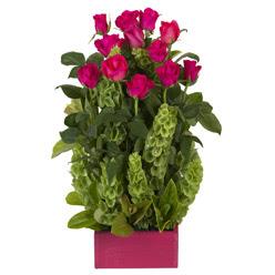 12 adet kirmizi gül aranjmani  Aydın çiçek mağazası , çiçekçi adresleri