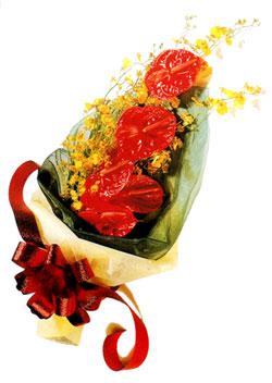 özel 5 adet antorium buketi   Aydın çiçek gönderme sitemiz güvenlidir