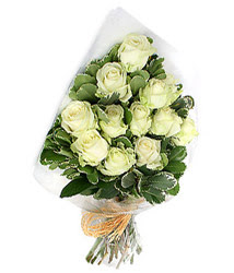 Aydın online çiçekçi , çiçek siparişi  12 li beyaz gül buketi.
