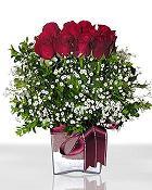 Aydın çiçek , çiçekçi , çiçekçilik  11 adet gül mika yada cam - anneler günü seçimi -
