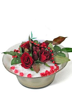 Aydın çiçek siparişi vermek  EN ÇOK Sevenlere 7 adet kirmizi gül mika yada cam tanzim