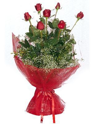Aydın çiçek servisi , çiçekçi adresleri  7 adet gülden buket görsel sik sadelik
