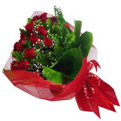 Aydın kaliteli taze ve ucuz çiçekler  12 adet kirmizi essiz gül buketi - SEVENE ÖZEL