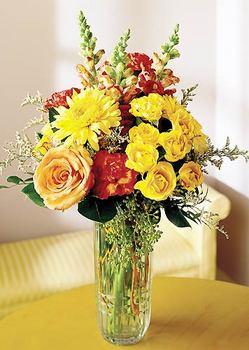 Aydın 14 şubat sevgililer günü çiçek  mika yada cam içerisinde karisik mevsim çiçekleri