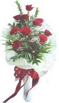 Aydın hediye çiçek yolla  10 adet kirmizi gülden buket tanzimi özel anlara
