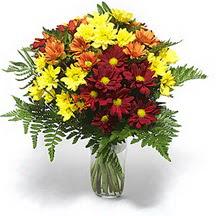 Aydın çiçek siparişi sitesi  Karisik çiçeklerden mevsim vazosu