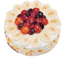 Meyvali 4 ile 6 kisilik yas pasta leziz  Aydın ucuz çiçek gönder